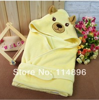 Newborn Baby holds spring and autumn baby sleeping bag infant parisarc coral fleece blankets super soft