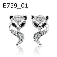 Wholesale 18K Gold Plated Austrian Crystal Earrings,Fashion Fox Earrings,Fashion Wedding Jewelry CCWKLPE757
