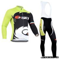 Castelli  long sleeve autumn bib cycling wear clothes bicycle bike riding cycling jersey bib pants set