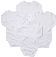 Original Carters Baby Classic Pure White Long Sleeve Bodysuits,Baby Girls Boys Active Bodysuit, Free Shipping IN STOCK