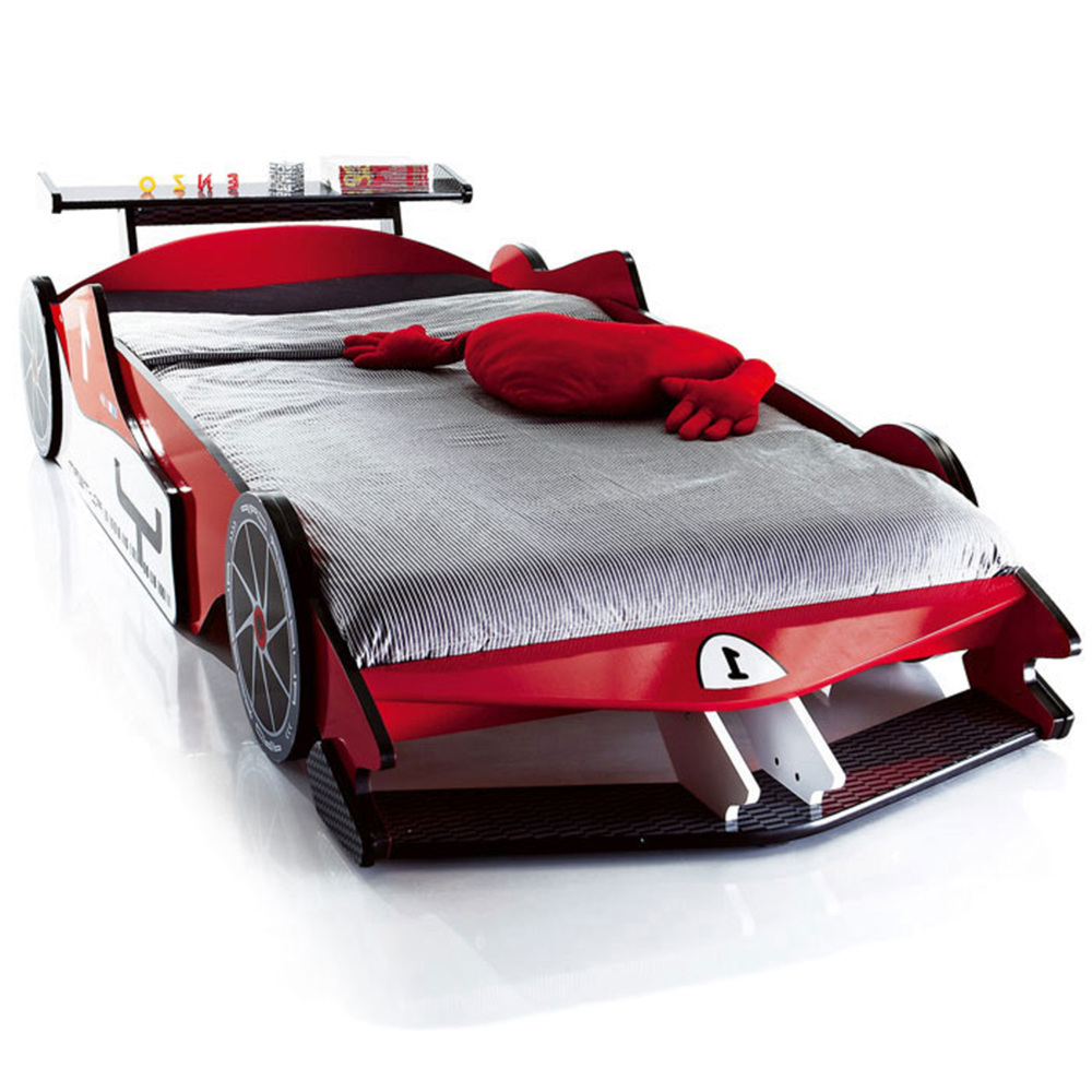 Free Shipping Real Wood Export Run Children Bed F1 Racing