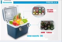 The car and home refrigerator that it can refrigeration and heating