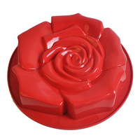 Silica gel large rose cake mould baking tools cake pan bread mould oven microwave oven