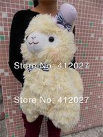 "Japan Amuse Arpakasso Alpacasso Alpaca Yellow 14"" Plush Toy With Hat (In Stock)"