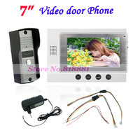 Villa Color Video door phone intercom System with 7 inch TFT Monitor 700TVL IR Camera Home Security