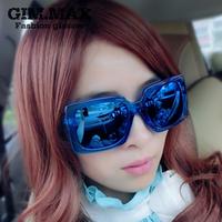 seven multicolour reflective sunglasses female sunglasses mirror male fashion vintage sunglasses
