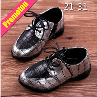 2014 Fashion Sping leather single shoes British style punk casual lace up shoes with side zipper