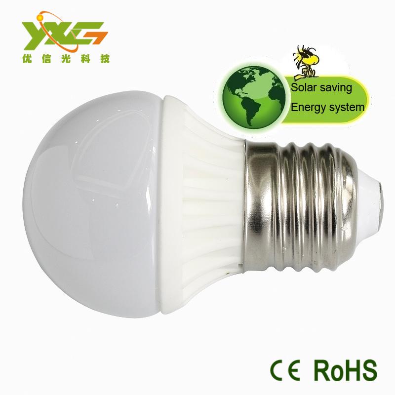 Free shipping(10pcs/lot) 3W Ceramic bulb 270lm 12v solar e27 bulb lamp led light(China (Mainland))
