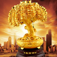 free shipping Lucky tree gold Large crafts decoration new year gift