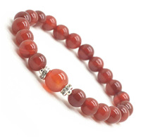 2014 hot sale Natural Red Carnelian Bracelet, 8MM agate round semi precious stone crystal beads for women girl free shipping