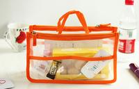 transparent organizer bag multi functional cosmetic bag in bag/cosmetic makeup storage bags & cases cosmetiic handbag for women