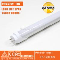 free shipping wholesale 6pcs/lot t8 tube led light 1200mm 1.2m g13 led t8 SMD2835 100-240V 2 years warranty