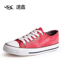 Low breathable canvas shoes female shoes flat shoes lacing women's casual shoes f283