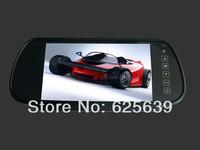 7 inch TFT Color Mirror LCD Car Rearview Screen Monitor Backup Camera