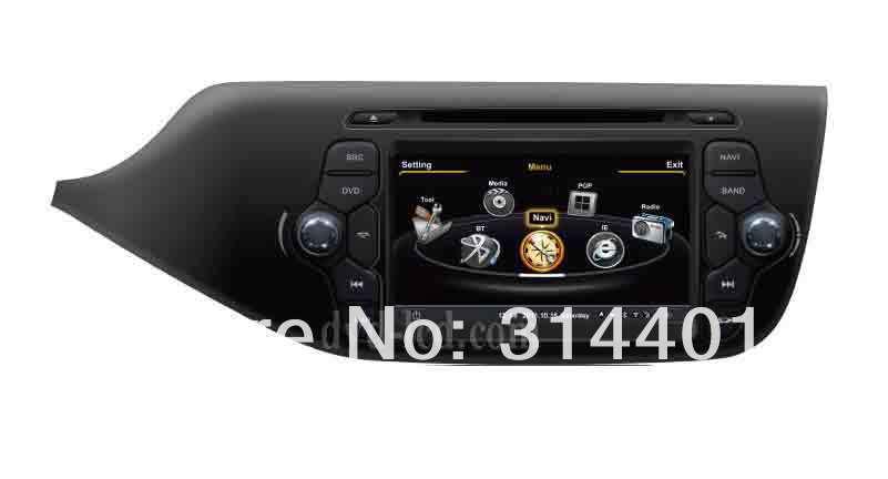 Kia Ceed 2013 car DVD player GPS navigation autoradio radio headunit Ipod BT 3G TV HD LCD A8 chipset 3zone(China (Mainland))