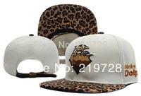 1 pcs 2014new Pink Dolphin Leopard snapback hats for men fashion cotton sport hippop baseball summer sun caps wholesale cheap