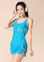Summer vest + short pants design of famous brand women sports wear wholesale,jogging suits for women/jogging suits for women