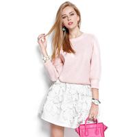 2014 spring women's loose sweater two ways thickening sweater cardigan 0548