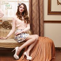2012 autumn skirt dress rhombus print yh-0405 bust skirt
