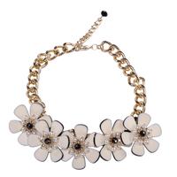 2014 spring all-match handmade beading chrysanthemum necklace yh-1006