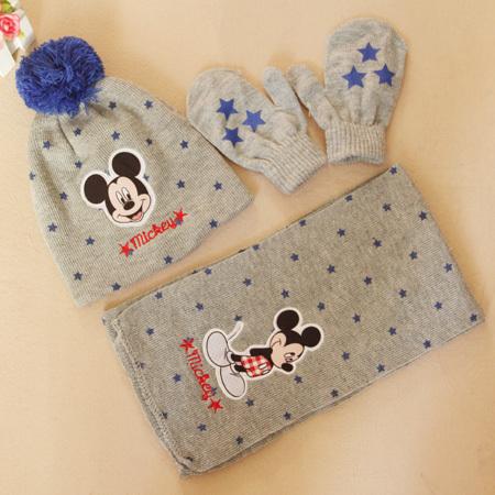 2015 NEW children hat winter warm boys girls hat sets stars scarf+hat+gloves children 3pcs baby hat set free shipping(China (Mainland))