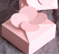 Free Shipping Pink Four Leaf Clover Candy Box Favor, Personalized Wedding Flower DIY Packaging Box