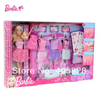 NEW Original Brand Glitter Barbie coordinates Fashion set  Mattel Sex Toys Y7503 Free Shipping