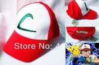 POKEMON L Cap  Ash Ketchum Hat  Pikaqu Satoshi Baseball Cap Summer Cap Hat Gift Cosplay Anime  Wholesale Free Shipping