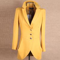2014 new spring women turn down collar fashion slim outerwear Y2P0