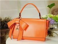 free shipping 2014 new Korean female bag bow handbag shoulder bag Messenger bag candy bag 29*19cm