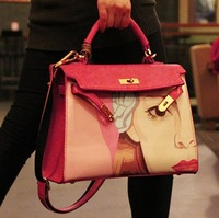 2014 Promotion Hot Bags Women's Candy Color Fashion Handbag Platinum Bag