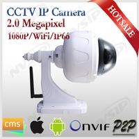 2.0 Megapixel 1080p wifi indoor/outdoor pan tilt ip camera wireless speed dome cctv ptz camera with audio