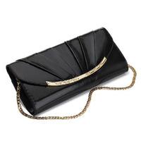 2014 New Vintage Fashion Style Genuine Leather Brand Designer Clutch Bags For Women Chain Shoulder Bag Handbag Purse Party Bag
