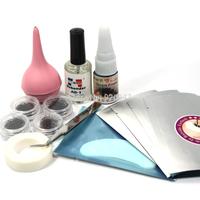 10 In 1 False Extension Eyelash Lashes Glue Remover Pad Tape Air Pump Tool Set
