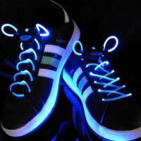 Wholesale LED Light Lace,Flash Shoelaces,Luminous shoestring, bootlace Fourth generation more brightness freeshipping 100pcs/lot
