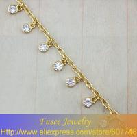 ISE00228 18K golden plated  Green/White bracelet