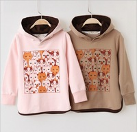 Free Shipping 1 PCS New Style Children Spring&Autumn Clothing girls Soft Cute and Comfortable Hoodies Cotton
