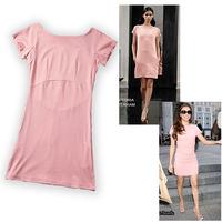 2014 hot sexy Women Dress summer cotton plus size vestidos femininos Back zipper Work Dress ladies  Free Shipping