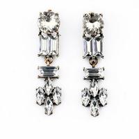 2014 New  Shourouk earrings Fashion luxury crystal flower tassel drop earrings women accessories brand Jewelry.Free shipping