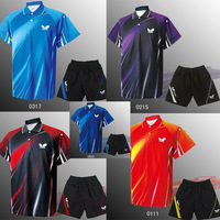Butterfly Athletic Table Tennis Shirt Short Men Clothing Badminton Suit Polyester Fabric Jersey Sportswear