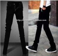 2014 male jeans slim black skinny pants pencil trousers male jeans male