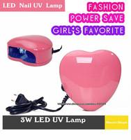 wholesale Fashion original LED Nail Gel Cure Lamp QQ gel mini cute design UV Dryer Heart Shape uv lamp 20sets/lot free shipping