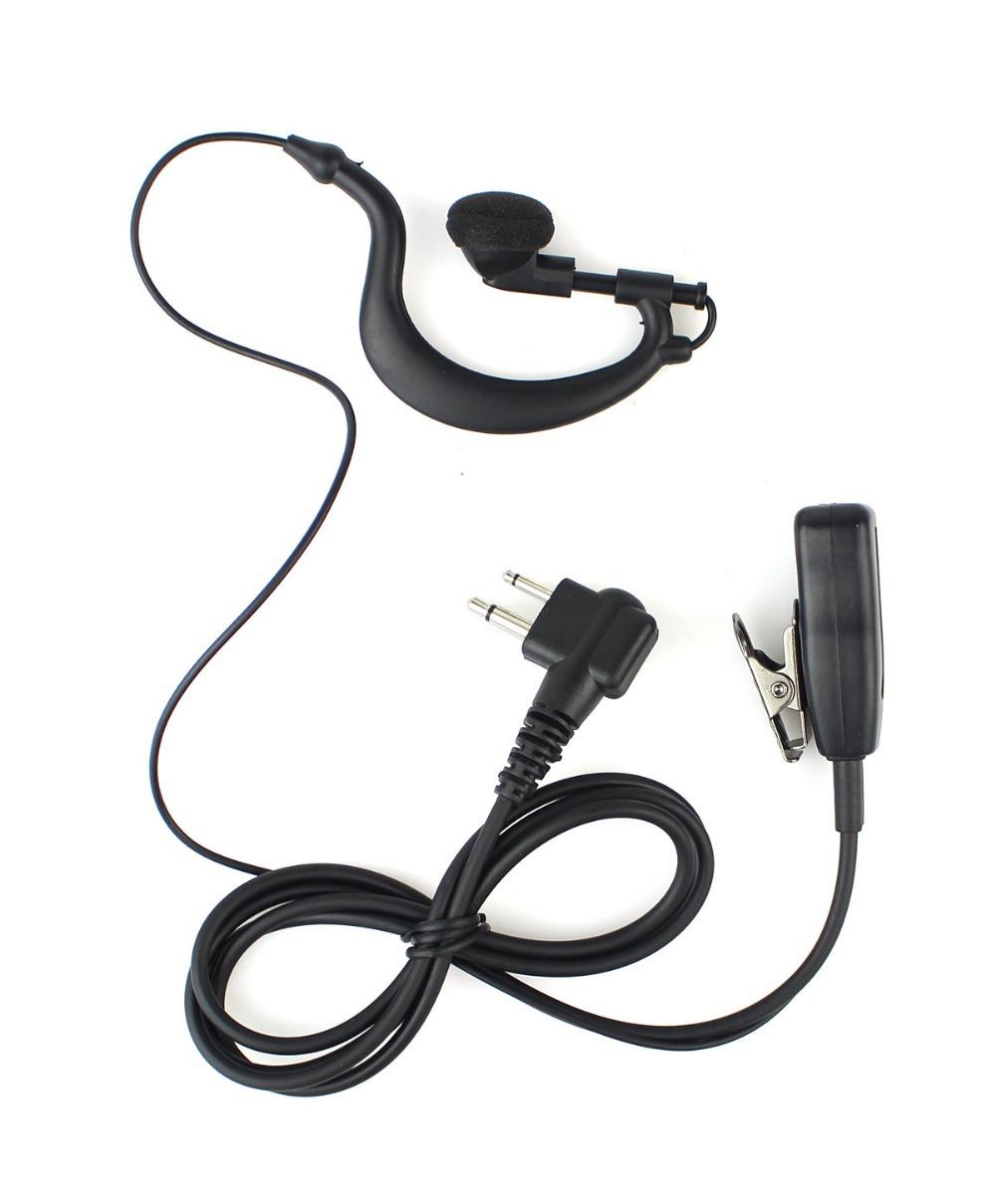 2 Pin PTT MIC Earpiece for Motorola Radio GP300 CP88 CP040 PRO1150 CLS1110 Black C0255A Eshow(China (Mainland))