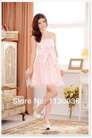 онлайн случайные Платье сладкие девочки выпускной платье короткой стороной вечернее платье девушка печати платье бренда
