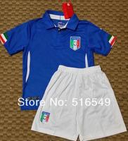 Italy home blue jersey 2014 brazil world cup italy blue soccer Jersey boy kids youth Soccer Jersey Soccer Shirt