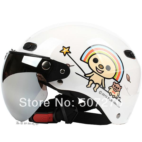"B.114 Taiwan ""EVO "" 1/2 ABS Half Face Casco Ebike Helm Motorcycle "" Open Rainbow "" Bright White Helmet & UV "" W "" Lens Summer(China (Mainland))"