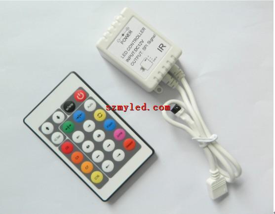UCS1903 controller 24key IR 231changes 1000pixels LED rgb pixel controller rgb remote controller(China (Mainland))