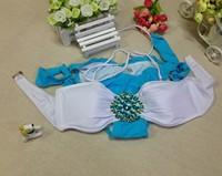 2014 New style  Beauty Women Top Strapless Bikini diamond bikini Sexy Swimsuit Top and Bottoms Swimwear