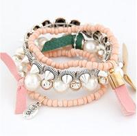 New Arrival Vintage Metal Rivet Beads Tassels Charm Bracelet Fashion Women Jewelry Accessories Wholesale