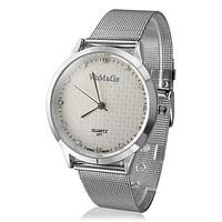 Fashion Analog Stainless Steel Mesh Quartz Wrist Watch Wristwatch women men ladies fashion dress quartz wrist watch new arrival
